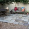 English Yorkstone patio, Dartmouth Park